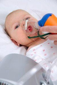 inhaling baby